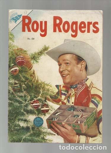 ROY ROGERS 28, 1954, NOVARO, MUY BUEN ESTADO. COLECCIÓN A.T. (Tebeos y Comics - Novaro - Roy Roger)