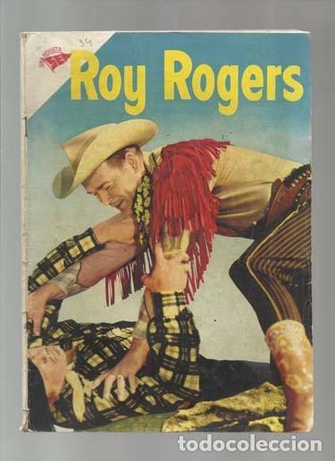 ROY ROGERS 34, 1955, NOVARO, BUEN ESTADO. COLECCIÓN A.T. (Tebeos y Comics - Novaro - Roy Roger)