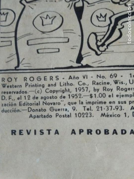 Tebeos: ROY ROGERS año IV 69 NOVARO 1958 - Foto 4 - 171635235