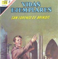 Tebeos: SAN LORENZO DE BRINDIS. COLECCIÓN VIDAS EJEMPLARES Nº244. NOVARO, 1967. Lote 171766303