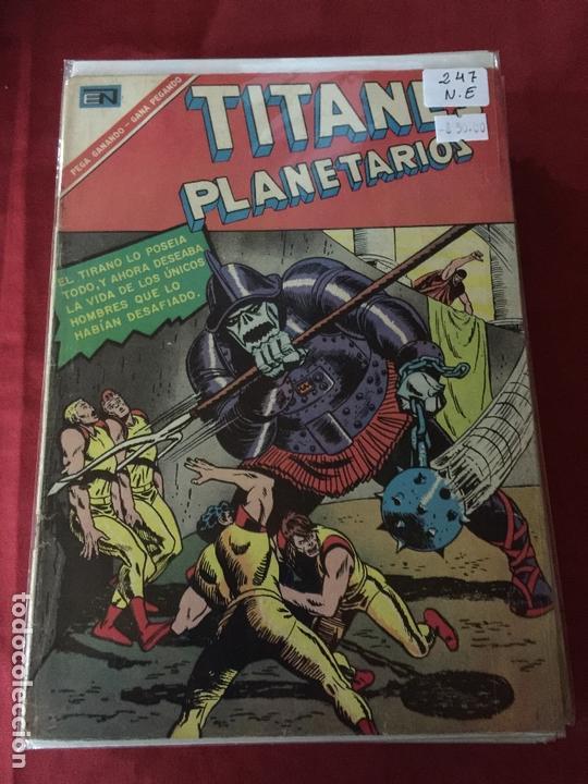 NOVARO TITANES PLANETARIOS NUMERO 247 NORMAL ESTADO (Tebeos y Comics - Novaro - Sci-Fi)