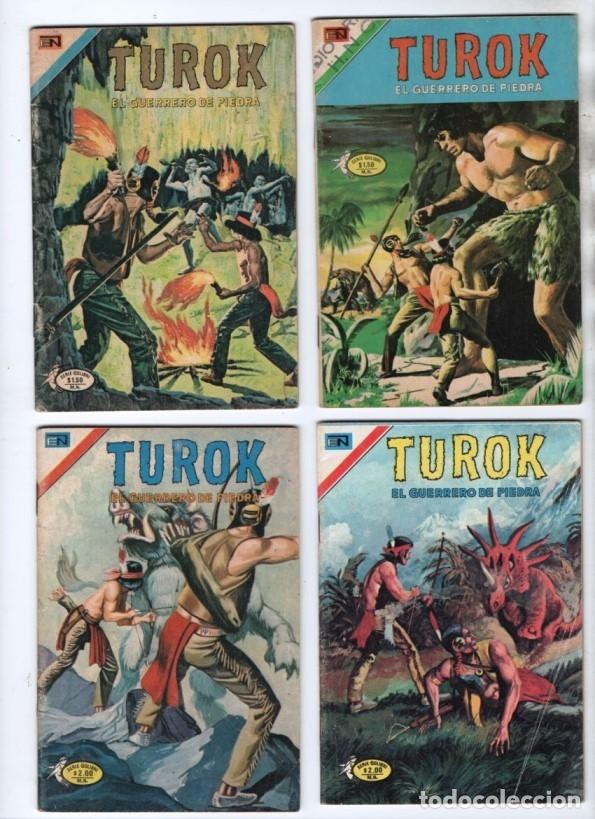 TUROK NOVARO SERIE COLIBRI 1975/1976 LOTE DE 4 COMICS #S 7, 10, 12 Y 1-18 DIFICILES MUY BUEN ESTADO (Tebeos y Comics - Novaro - Sci-Fi)