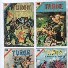 Tebeos: TUROK NOVARO SERIE COLIBRI 1975/1976 LOTE DE 4 COMICS #S 7, 10, 12 Y 1-18 DIFICILES MUY BUEN ESTADO. Lote 172377490