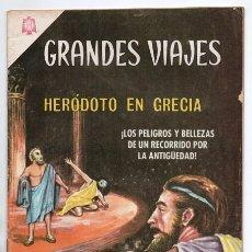 Tebeos: GRANDES VIAJES # 34 NOVARO 1965 HERODOTO EN GRECIA PORT SAID TINEH PERSAS EGIPCIOS MUY BUEN ESTADO. Lote 172428030