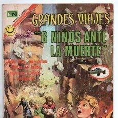 Tebeos: GRANDES VIAJES # 112 NOVARO 1972 6 NIÑOS ANTE LA MUERTE JULIO DE 1844 JUAN SAGER EXCELENTE ESTADO. Lote 172590387