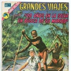 Tebeos: GRANDES VIAJES # 129 NOVARO 1973 20 AÑOS EN LA SELVA EN BUSCA DE SU MARIDO MUY BUEN ESTADO. Lote 172661254