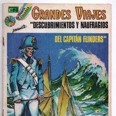 Tebeos: GRANDES VIAJES # 147 NOVARO 1974 NAUFRAGIOS DEL CAPITAN FLINDERS FIESTA DE COLORES BUEN ESTADO. Lote 172917843
