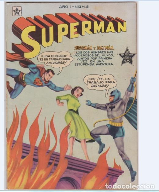 SUPERMAN NUMERO 5 DE LA EDITORIAL NOVARO EN PERFECTO ESTADO. (Tebeos y Comics - Novaro - Superman)