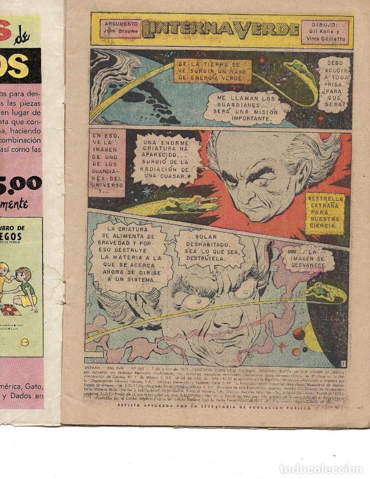 Tebeos: BATMAN - EL HOMBRE MURCIÉLAGO, AÑO XVIII, Nº 565, 7 DE ENERO DE 1971 ***EDITORIAL NOVARO*** - Foto 5 - 173810887