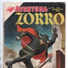 Tebeos: AVENTURA # 70 NOVARO 1957 LA MASCARA DEL ZORRO MUY BUEN ESTADO CORRESPONDE DELL # 732 DE 1956. Lote 173945093