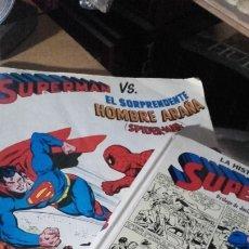 Tebeos: SUPERMAN VS EL SORPRENDENTE HOMBRE ARAÑA, Y LA HISTORIA DE SUPERMAN. NONARO, 1979.. Lote 174470520