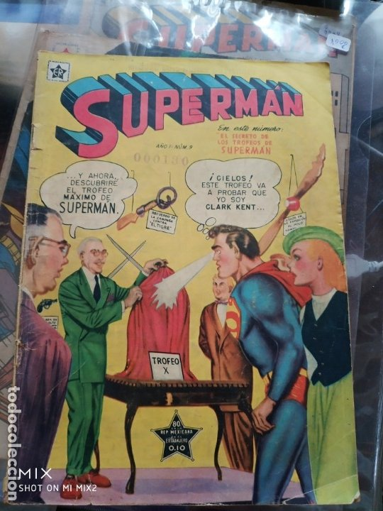 SUPERMAN NOVARO AÑO I NUMERO 9 (Tebeos y Comics - Novaro - Superman)