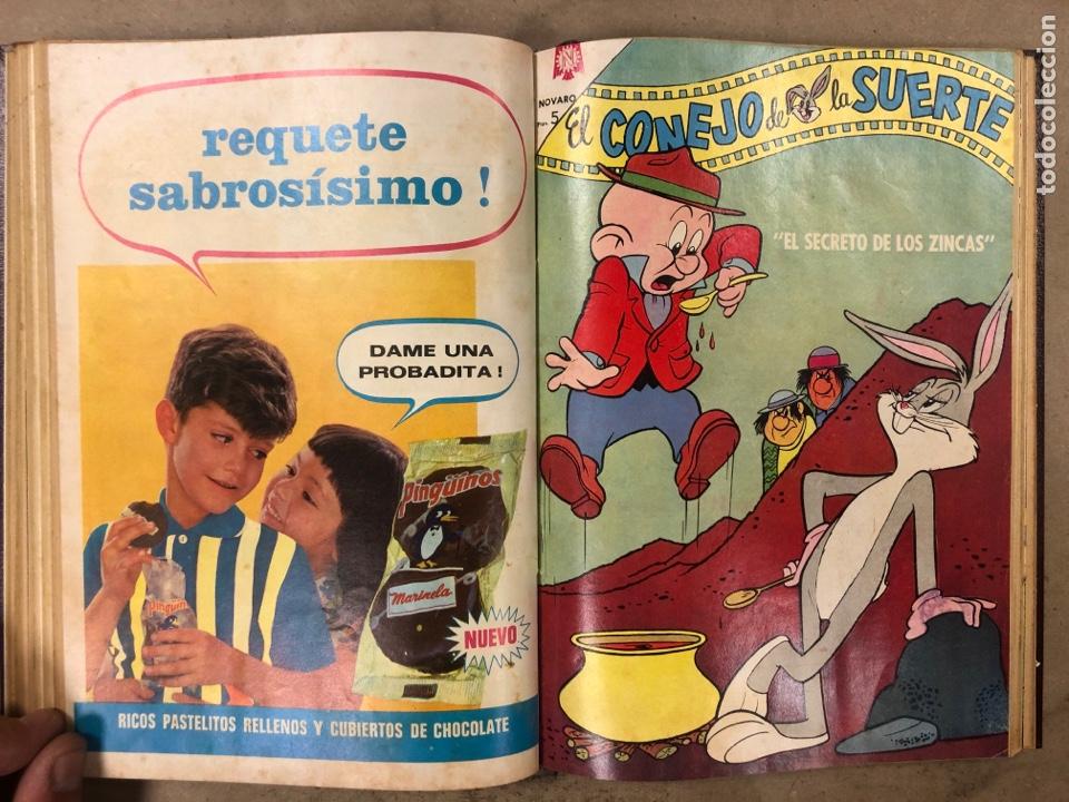 Tebeos: TOMO CON 13 TEBEOS ENCUADERNADOS (2 PORKY y 11 EL CONEJO DE LA SUERTE). NOVARO 1968 - Foto 10 - 175806653