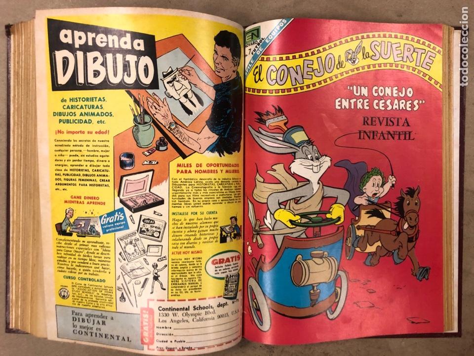Tebeos: TOMO CON 12 TEBEOS EL CONEJO DE LA SUERTE (NOVARO 1968). ENCUADERNADOS. MUY BUEN ESTADO. - Foto 20 - 175807485