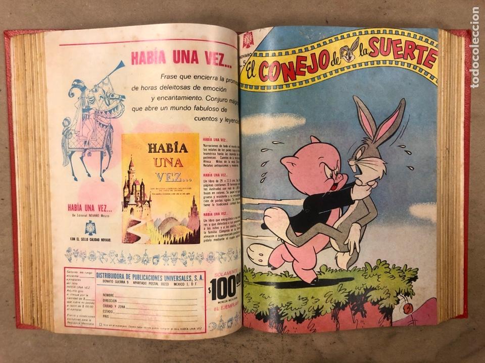 Tebeos: TOMO CON 17 TEBEOS ENCUADERNADOS (NOVARO 1965/66). 12 EL CONEJO DE LA SUERTE y 5 PORKY. - Foto 16 - 175809944