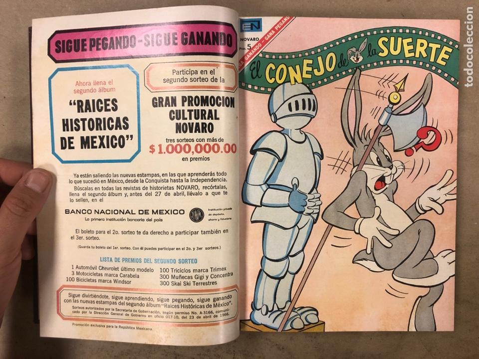 Tebeos: TOMO CON 15 TEBEOS ENCUADERNADOS (NOVARO 1967). 12 EL CONEJO DE LA SUERTE y 3 PORKY. - Foto 4 - 175810309