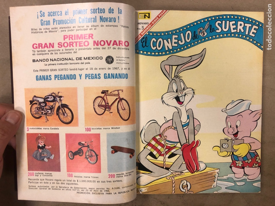 Tebeos: TOMO CON 15 TEBEOS ENCUADERNADOS (NOVARO 1967). 12 EL CONEJO DE LA SUERTE y 3 PORKY. - Foto 6 - 175810309