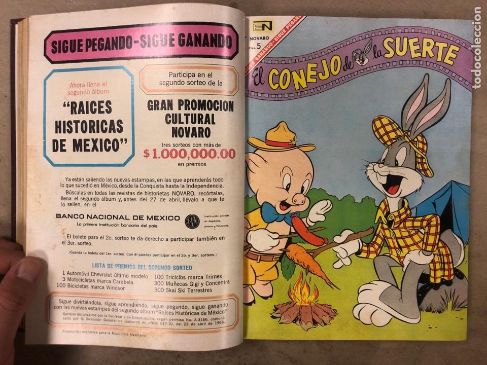 Tebeos: TOMO CON 15 TEBEOS ENCUADERNADOS (NOVARO 1967). 12 EL CONEJO DE LA SUERTE y 3 PORKY. - Foto 12 - 175810309
