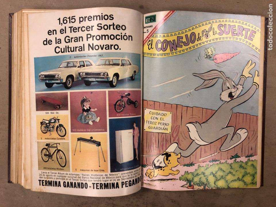 Tebeos: TOMO CON 15 TEBEOS ENCUADERNADOS (NOVARO 1967). 12 EL CONEJO DE LA SUERTE y 3 PORKY. - Foto 20 - 175810309