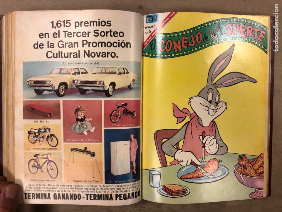 Tebeos: TOMO CON 15 TEBEOS ENCUADERNADOS (NOVARO 1967). 12 EL CONEJO DE LA SUERTE y 3 PORKY. - Foto 22 - 175810309