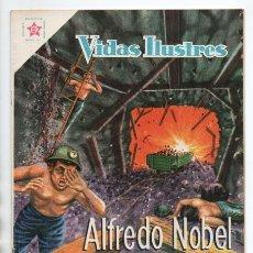 Tebeos: VIDAS ILUSTRES # 42 NOVARO 1959 ALFREDO NOBEL LA DINAMITA LOS TORPEDOS EXCELENTE ESTADO. Lote 175814517