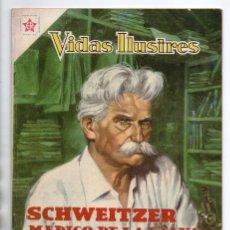 Tebeos: VIDAS ILUSTRES # 49 NOVARO 1960 ALBERT SCHWEITZER MEDICO DE LA SELVA EXCELENTE ESTADO. Lote 175814857
