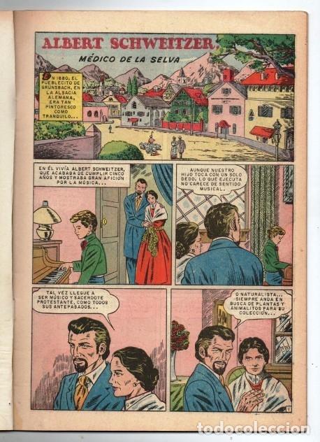 Tebeos: VIDAS ILUSTRES # 49 NOVARO 1960 ALBERT SCHWEITZER MEDICO DE LA SELVA EXCELENTE ESTADO - Foto 2 - 175814857