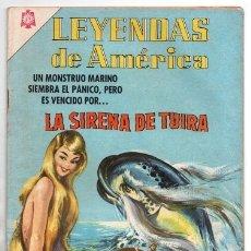 Tebeos: LEYENDAS DE AMERICA # 120 NOVARO 1966 LA SIRENA DE TUIRA LEYENDA PANAMEÑA IMPECABLE ESTADO. Lote 175878050