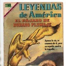 Tebeos: LEYENDAS DE AMERICA # 164 NOVARO 1969 EL PAJARO DE DORADO PLUMAJE LEYENDA DE ALASKA BUEN ESTADO. Lote 175878278