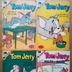 Tebeos: LOTE TOM Y JERRY (NOVARO, 1972-1973). NÚMEROS 357-362-368-369.. Lote 175900348