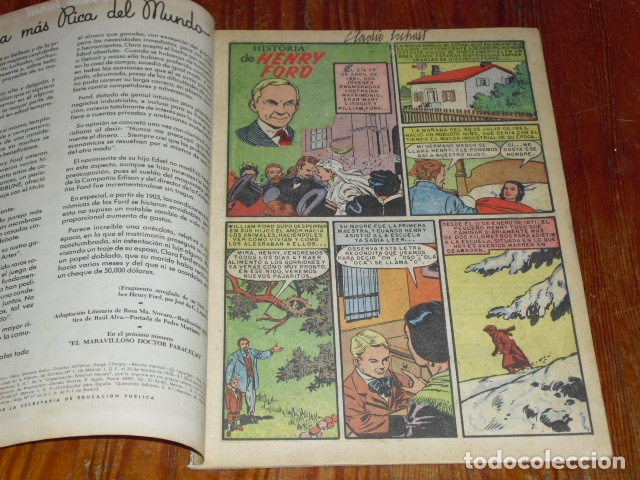 Tebeos: HISTORIA DE HENRY FORD - NOVARO VIDAS ILUSTRES Nº 32 - 1958 - - Foto 2 - 176005179