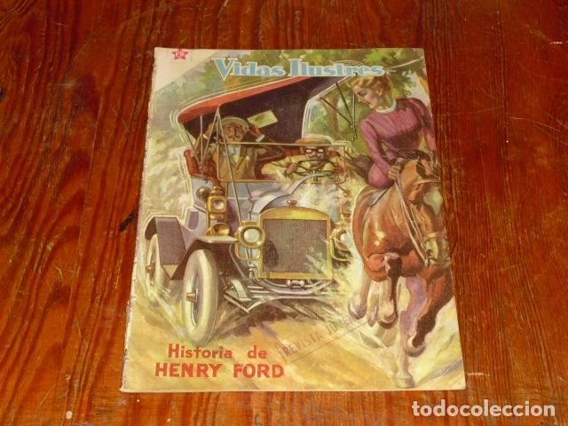 HISTORIA DE HENRY FORD - NOVARO VIDAS ILUSTRES Nº 32 - 1958 - (Tebeos y Comics - Novaro - Vidas ilustres)