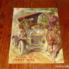 Tebeos: HISTORIA DE HENRY FORD - NOVARO VIDAS ILUSTRES Nº 32 - 1958 -. Lote 176005179