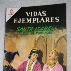Tebeos: VIDAS EJEMPLARES Nº 206 : SANTA ISABEL ,REINA DE PORTUGAL. (NOVARO) AÑO 1965. Lote 176006075