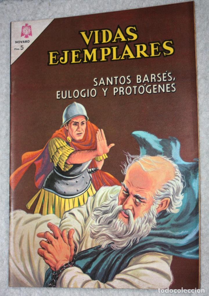 VIDAS EJEMPLARES Nº 198 : SANTOS BARSÉS,EULOGIO Y PROTÓGENES (NOVARO) AÑO 1965 (Tebeos y Comics - Novaro - Vidas ejemplares)
