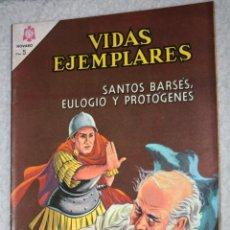 Tebeos: VIDAS EJEMPLARES Nº 198 : SANTOS BARSÉS,EULOGIO Y PROTÓGENES (NOVARO) AÑO 1965. Lote 176006664