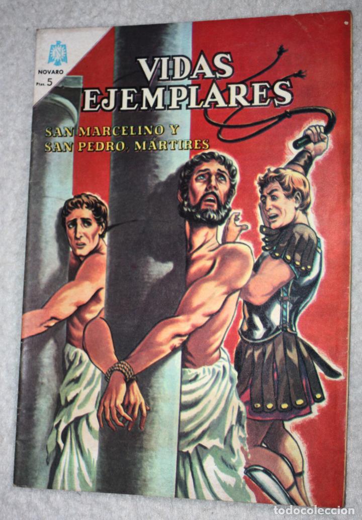 VIDAS EJEMPLARES Nº 190 : SAN MARCELINO Y SAN PEDRO ,MARTIRES. (NOVARO) AÑO 1965 (Tebeos y Comics - Novaro - Vidas ejemplares)
