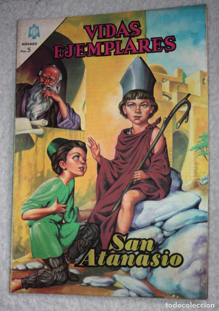 VIDAS EJEMPLARES Nº 195 : SAN ATANASIO. (NOVARO) AÑO 1965 (Tebeos y Comics - Novaro - Vidas ejemplares)