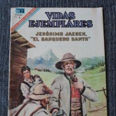 Tebeos: VIDAS EJEMPLARES Nº 247 : JERÓNIMO JAEGEN,EL BANQUERO SANTO. (NOVARO) AÑO 1967. Lote 176008458