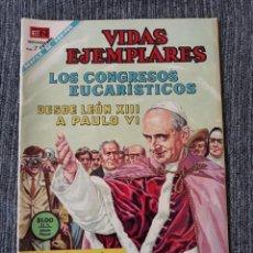 Tebeos: VIDAS EJEMPLARES Nº ESPECIAL : LOS CONGRESOS EUCARISTICOS DESDE LEON XIII A PAULO VI. (NOVARO) 1967. Lote 176009805