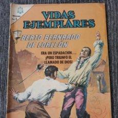 Tebeos: VIDAS EJEMPLARES Nº212: BEATO BERNARDO DE CORLEON. (NOVARO) AÑO 1966. Lote 176010307
