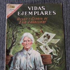 Tebeos: VIDAS EJEMPLARES Nº252: OCASO Y GLORIA DE EVA LAVALLIERE. (NOVARO) AÑO 1967. Lote 176010773