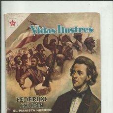 Livros de Banda Desenhada: VIDAS ILUSTRES 18: FEDERICO CHOPIN, 1957, NOVARO, BUEN ESTADO. COLECCIÓN A.T.. Lote 176617430