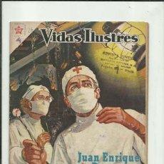 Tebeos: VIDAS ILUSTRES 26: JUAN ENRIQUE DUNANT, 1958, NOVARO, BUEN ESTADO. COLECCIÓN A.T.. Lote 176617678