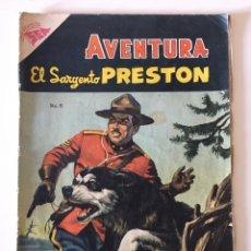 Tebeos: AVENTURA 6: EL SARGENTO PRESTON, 1954, NOVARO. Lote 176680508
