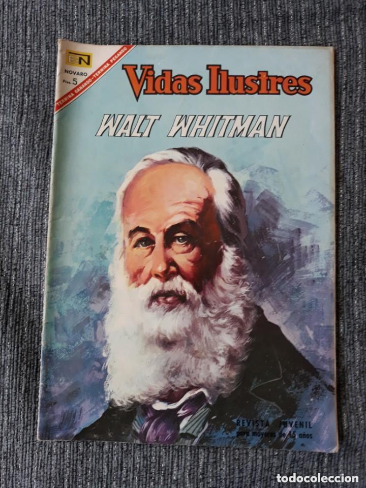 VIDAS ILUSTRES Nº165 ,WALT WHITMAN (NOVARO) AÑO 1967 (Tebeos y Comics - Novaro - Vidas ilustres)