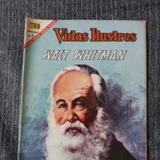 Tebeos: VIDAS ILUSTRES Nº165 ,WALT WHITMAN (NOVARO) AÑO 1967. Lote 176989989