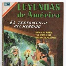 Tebeos: LEYENDAS DE AMERICA # 143 NOVARO 1968 EL TESTAMENTO DEL MENDIGO LEYENDA PERUANA EXCELENTE. Lote 177436154