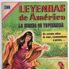 Tebeos: LEYENDAS DE AMERICA # 166 NOVARO 1969 LA SIRENA DE TUPINAMBA LEYENDA DEL BRASIL EXCELENTE. Lote 177436320