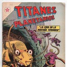 Tebeos: TITANES PLANETARIOS # 143 NOVARO 1962 LOS TEMERARIOS LA COSA EN LA MONTAÑA TEMERARIA MUY BUEN ESTADO. Lote 177436353